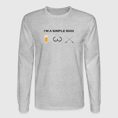 simple man boobs bier beer titten angel angler png - Men's Long Sleeve T-Shirt