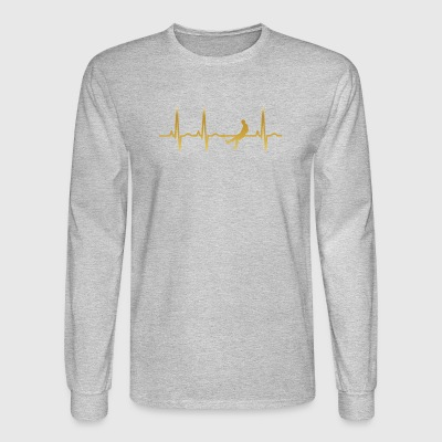 evolution ekg heartbeat fussball fussball soccer s - Men's Long Sleeve T-Shirt