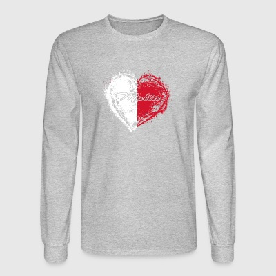 HOME ROOTS COUNTRY GIFT LOVE Malta - Men's Long Sleeve T-Shirt