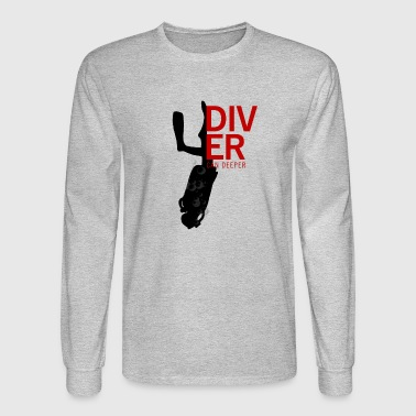 Dive tees - diver can deeper - Men's Long Sleeve T-Shirt