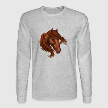 Sorrel Snip Horse - Men's Long Sleeve T-Shirt