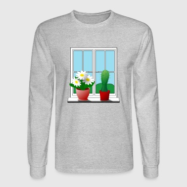 cactus and flower - Men's Long Sleeve T-Shirt
