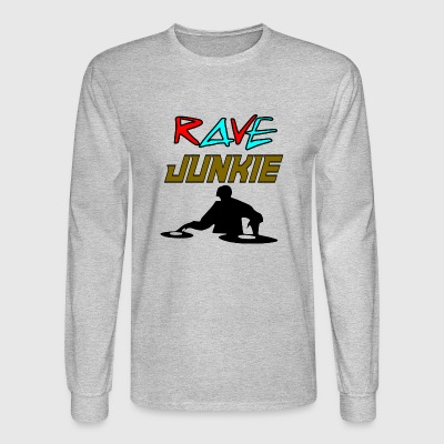 dj rave junkie - Men's Long Sleeve T-Shirt