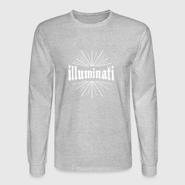 illuminati Conspiracy typography sign - Men's Long Sleeve T-Shirt