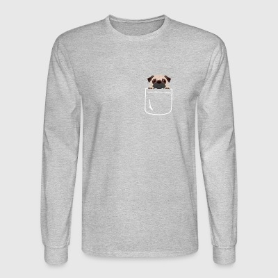Pug In Your Pocket Funny Sweet Puppy Lover - Men's Long Sleeve T-Shirt