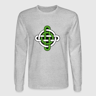 celtic knot green and white - Men's Long Sleeve T-Shirt