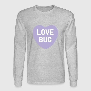 Love Bug Purple Candy Heart - Men's Long Sleeve T-Shirt