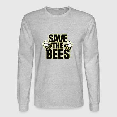 save the bees - Men's Long Sleeve T-Shirt