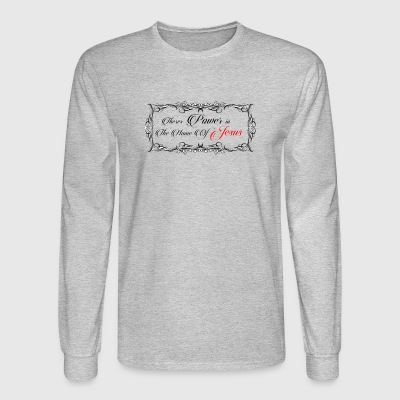theres_power_in_the_name_of_jesus - Men's Long Sleeve T-Shirt