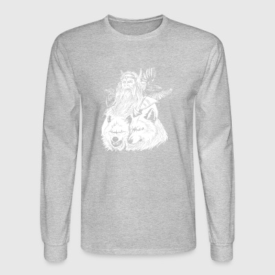 odin with wolves and ravens - Men's Long Sleeve T-Shirt