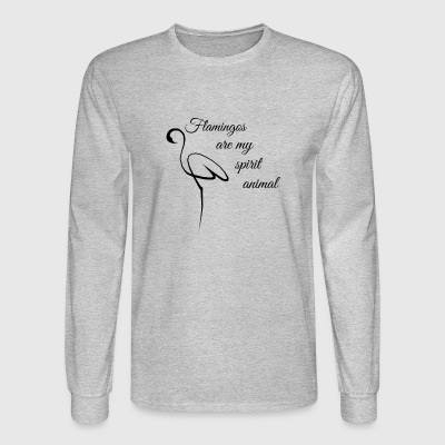 flamingos are my spirit animal - Men's Long Sleeve T-Shirt