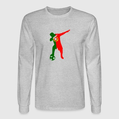 Portuguese soccer player dabbing - Men's Long Sleeve T-Shirt