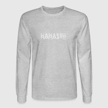 Namaste Geometric Goa Yoga Psy Meditation T-Shirts - Men's Long Sleeve T-Shirt