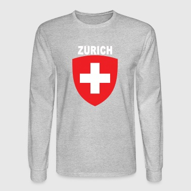 Zurich City National Swiss Emblem Design - Men's Long Sleeve T-Shirt
