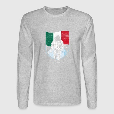 Astronaut moon Mexico flag gift idea - Men's Long Sleeve T-Shirt