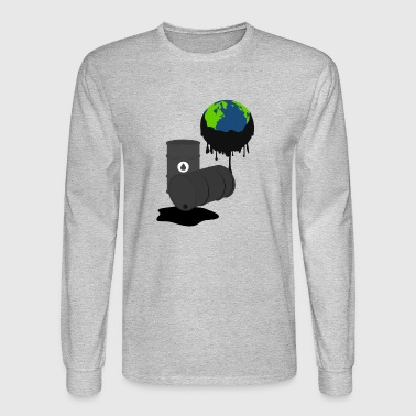 oil oel petrol station tankstelle oelquelle - Men's Long Sleeve T-Shirt