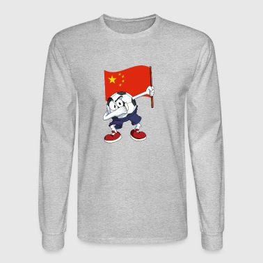 China Dabbing Soccer Ball - Men's Long Sleeve T-Shirt