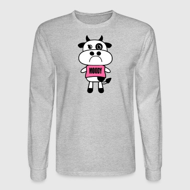 Moody Cow - Men's Long Sleeve T-Shirt