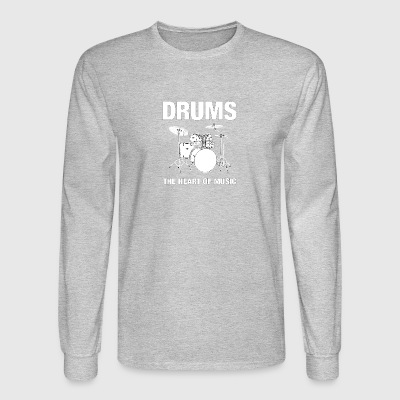 Drums The Heart Of Music - Men's Long Sleeve T-Shirt