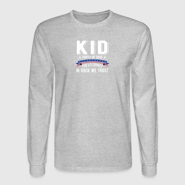 Kid For US Senate 2018 Election In Rock We Trust - Men's Long Sleeve T-Shirt