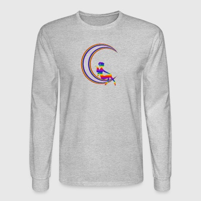 crescent faery lunar - Men's Long Sleeve T-Shirt