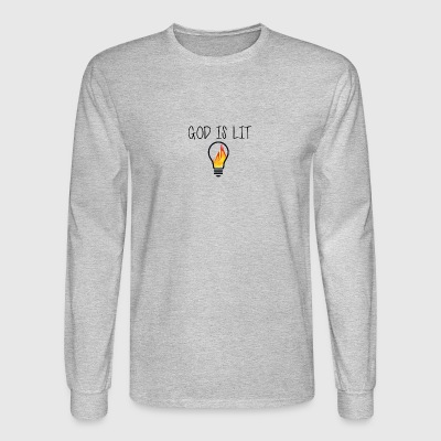 God is Lit Flame - Men's Long Sleeve T-Shirt