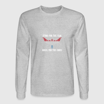 Stand for the flag Luxembourg kneel for the cross - Men's Long Sleeve T-Shirt