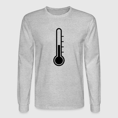 Cold Warm Warmth Cool Temperature Thermometer Gift - Men's Long Sleeve T-Shirt