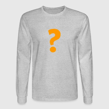 QUESTION MARK YELLOW ADVENTURING 001 - Men's Long Sleeve T-Shirt