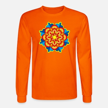 Buddhism Mandala Meditation Art - Men's Longsleeve Shirt