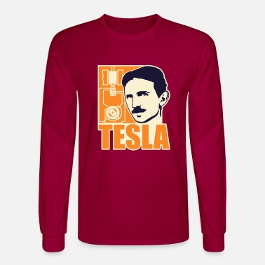 Motor Researchers and developers: Tesla + electric motor - Men's Longsleeve Shirt