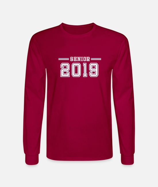 2019 Long-Sleeved Shirts - Senior 2019 Grad - Men's Longsleeve Shirt dark red