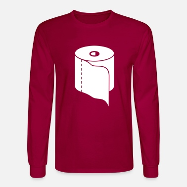 Toilet Paper Roll (a, 1c) - Men's Longsleeve Shirt