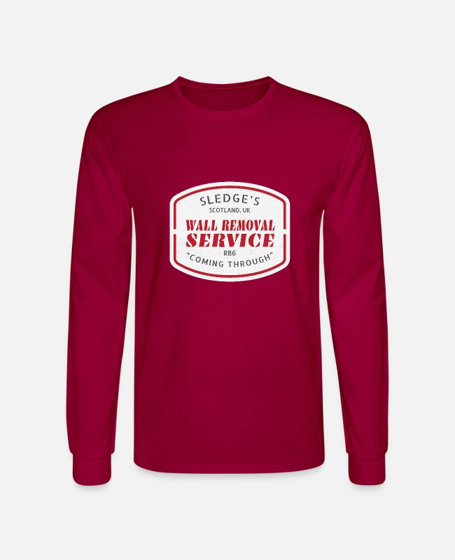 Operator Long-Sleeved Shirts - Sledge's Wall Removal Service - Men's Longsleeve Shirt dark red