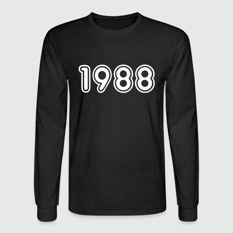 1988, Numbers, Year, Year Of Birth - Men's Long Sleeve T-Shirt