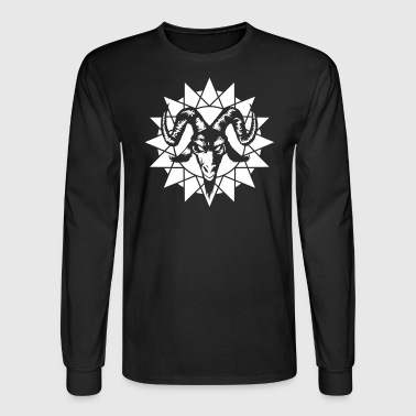Goat Head with Chaos-Star (inverted) - Men's Long Sleeve T-Shirt