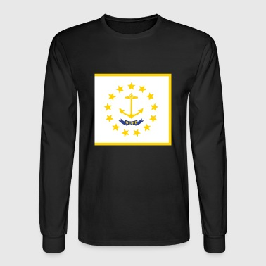 Flag Rhode Island - Men's Long Sleeve T-Shirt