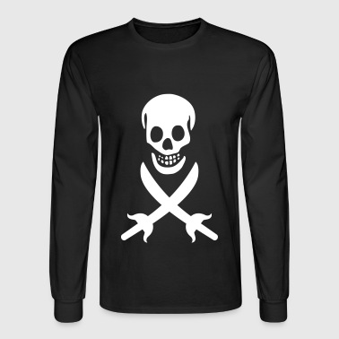 Pirate, Skull, Black Flag - Men's Long Sleeve T-Shirt