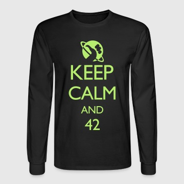 Keep Calm and 42 VECTOR - Men's Long Sleeve T-Shirt