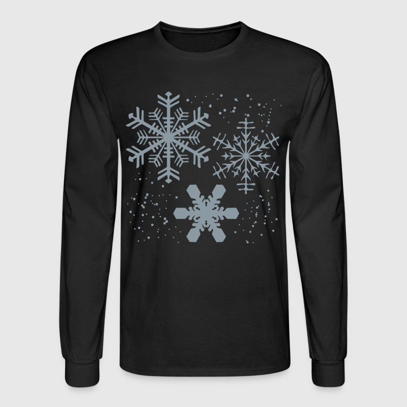 Winter SNOWFLAKES Design - Men's Long Sleeve T-Shirt