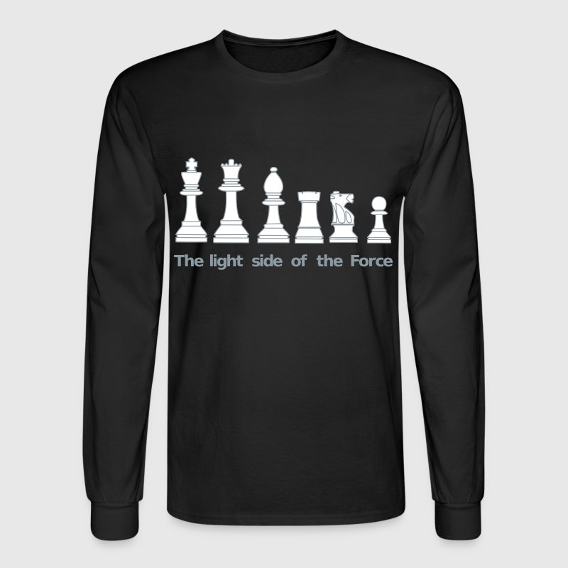 The light side of the Force, chess, pawns - Men's Long Sleeve T-Shirt