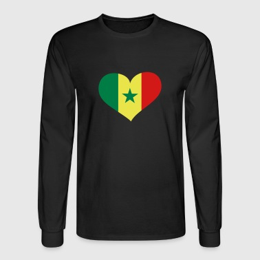 Senegal Heart; Love Senegal - Men's Long Sleeve T-Shirt