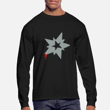 A ninja Christmas Star - Men's Long Sleeve T-Shirt