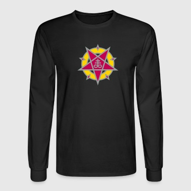 Pentagram + Satan's Cross No.1_3c - Men's Long Sleeve T-Shirt