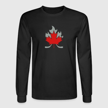 Hockey Stick Cross - Men's Long Sleeve T-Shirt
