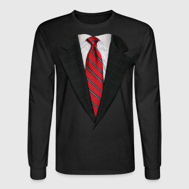 Suit and Necktie Real - Men's Long Sleeve T-Shirt