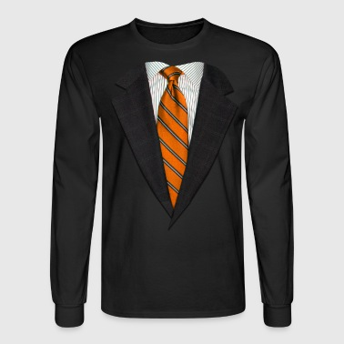 Neck Tie Orange Suit and NeckTie - Men's Long Sleeve T-Shirt