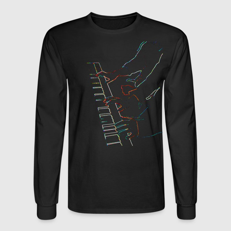 Piano hands - Men's Long Sleeve T-Shirt