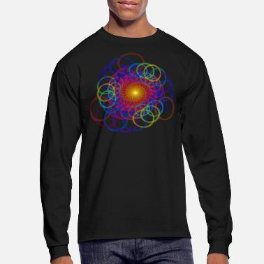 Chain Borromean Ring Spiral Chain Geometric Art - Men's Long Sleeve T-Shirt