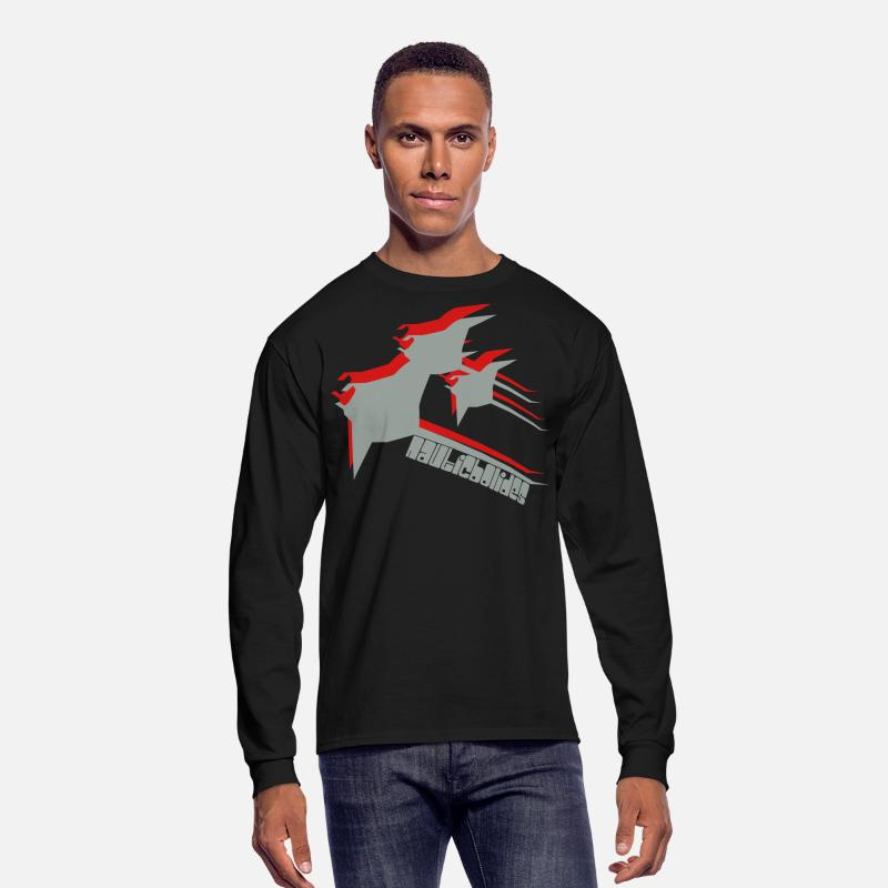 Fish Long sleeve shirts - Manta Ray - Men's Longsleeve Shirt black
